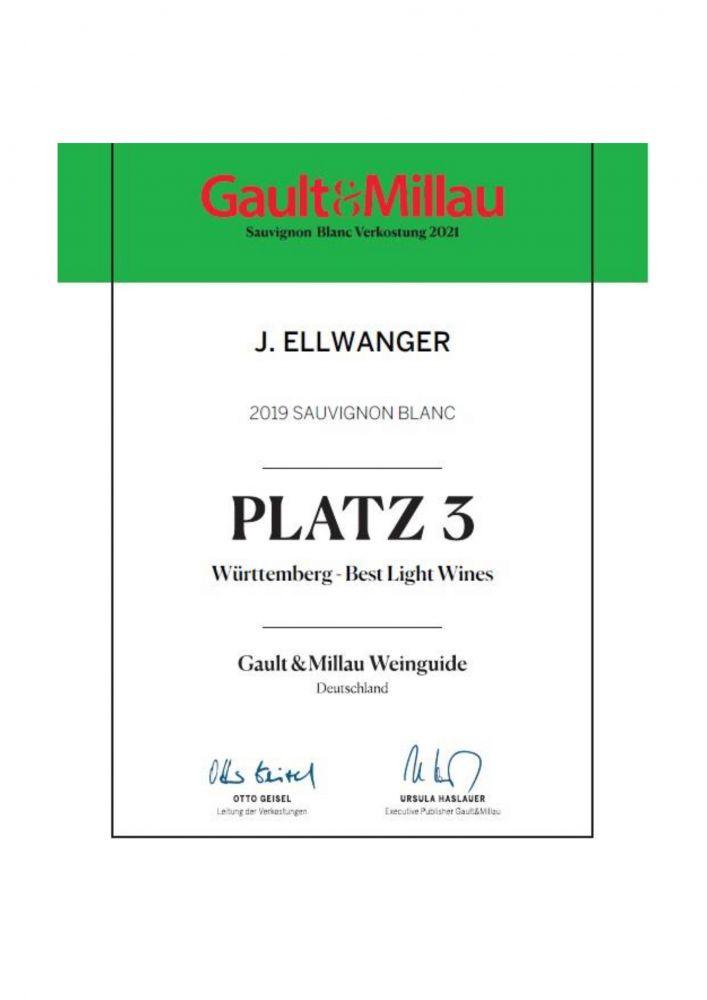 2019 er Sauvignon Blanc - Platz 3 - Württemberg Light Wines - Gault-Millau