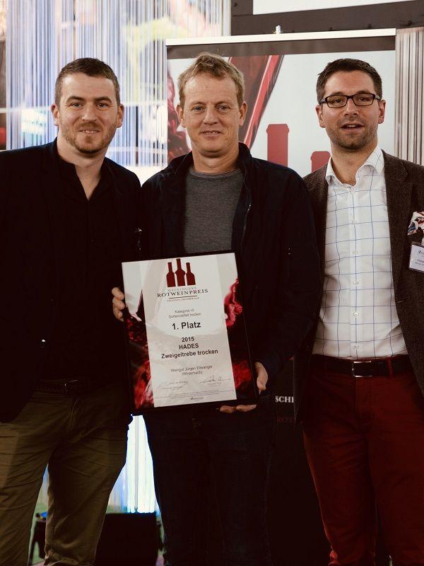 2019 Meininger Rotweinpreis 1. Platz für unseren HADES Zweigelt