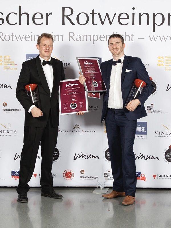2018 Vinum Rotweinpreis Doppelerfolg