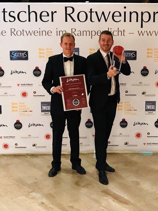 2019 Vinum Rotweinpreis 3 Platz für unseren HADES Zweigelt